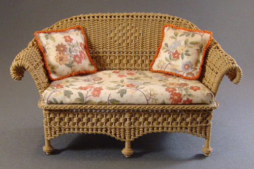Petticoat Porch wicker settee