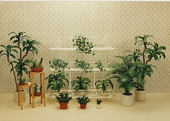 dollhouse miniature plant - Set 2